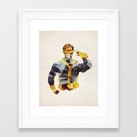 Polygon Heroes - Cyclops Framed Art Print