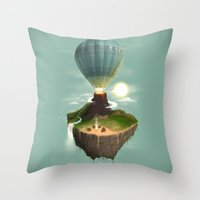 The Great Tropical Escape Throw Pillow
