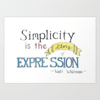 Expression-Whitman Quote Art Print