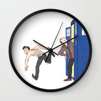 tardis-sick Wall Clock