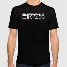 BITCH I MIGHT BE Mens Fitted Tee Black SMALL