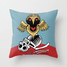 Búho De La Muerte Throw Pillow