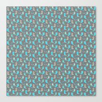 Blue Cowgirl Boots For The Modern Cowgirl Canvas Print