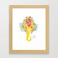 Floral Ganesha Framed Art Print