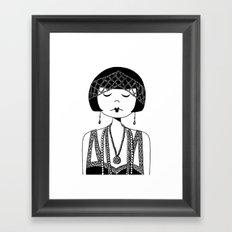 Star of the Silver Screen Framed Art Print