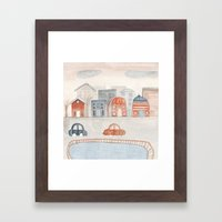 one city Framed Art Print