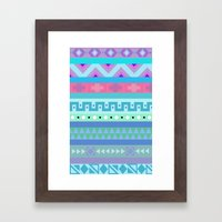 Calm Colored Tribal Prin… Framed Art Print