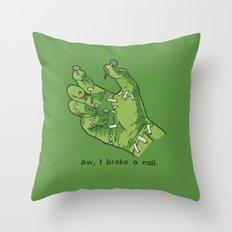 Frankenhand Throw Pillow