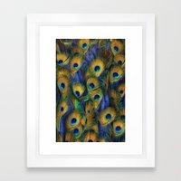 peacock eyes Framed Art Print