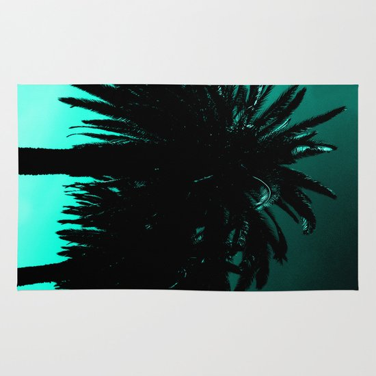 Teal Sunset Rug By Moonshine