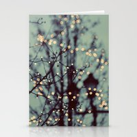 winter Stationery Cards featuring Winter Lights by elle moss