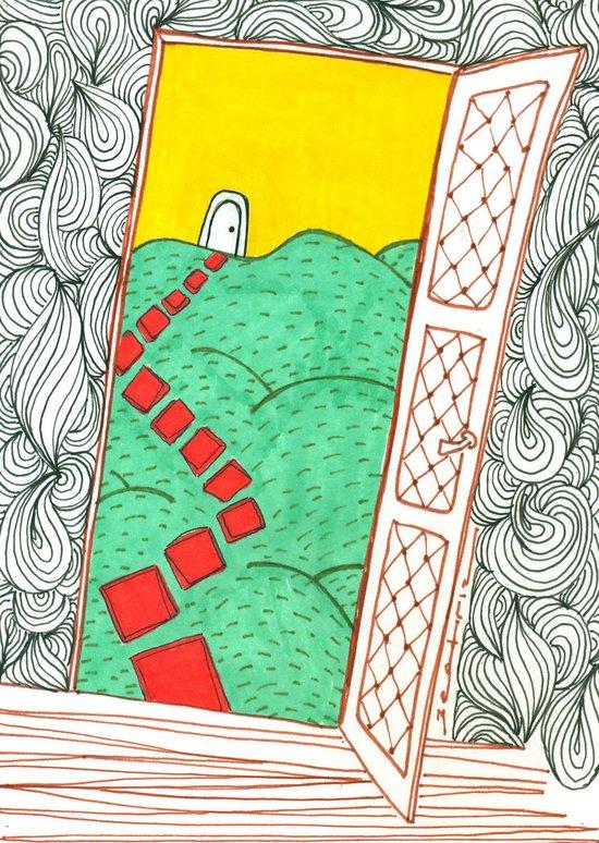 (Door) Il me semble que je serai toujours bien là où je ne suis pas… Art Print