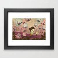 Balloon Tree Song Framed Art Print