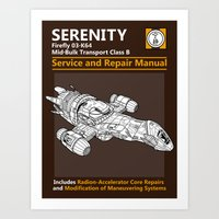 Serenity Service And Rep… Art Print