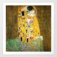 Art Print featuring Gustav Klimt The Kiss by Art Gallery