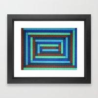 Blue 'n Orange Framed Art Print