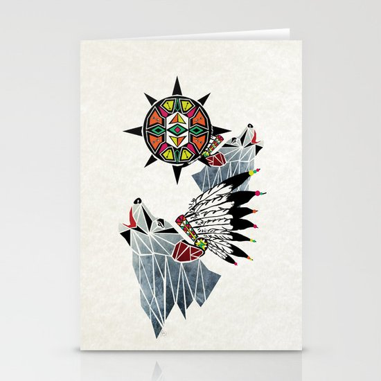 wolf king Stationery Card