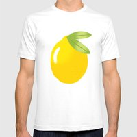 LEMON Mens Fitted Tee White SMALL