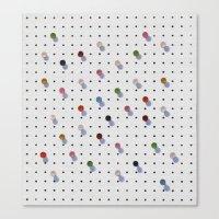 Pin Points Canvas Print