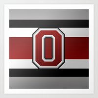 OSU Glove Stripe Art Print