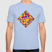 Triangles II Mens Fitted Tee Tri-Blue SMALL