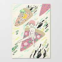 Pizza Riders Canvas Print