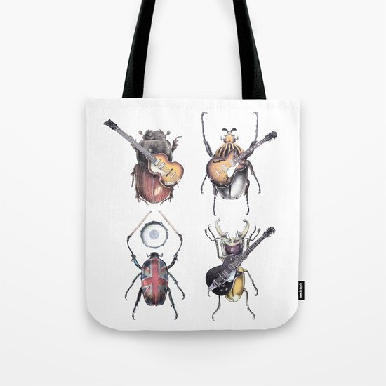Meet the Beetles (white option) Tote Bag