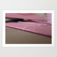 Pink Envelopes Art Print