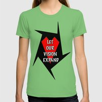Let Our Vision Expand Womens Fitted Tee Grass SMALL