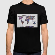 Star map. Never stop exploring... SMALL Mens Fitted Tee Black
