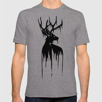Painted Stag V.2 Mens Fitted Tee Tri-Grey SMALL