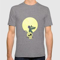 Moon Rat Mens Fitted Tee Tri-Grey SMALL