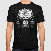 Legend of Zelda Bomb Advertisement Poster Mens Fitted Tee Tri-Black SMALL
