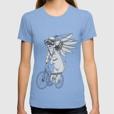 Steam Punk Chihuahua Womens Fitted Tee Tri-Blue SMALL