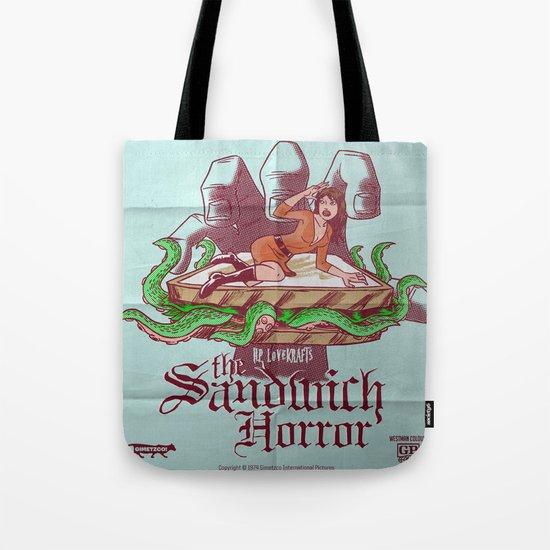 H.P. LoveKRAFT's  The Sandwich Horror Tote Bag