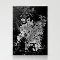 Santiago Map Chile Stationery Cards