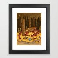 Smaug, The Last Dragon Framed Art Print