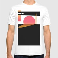 Melting Sun Mens Fitted Tee White SMALL