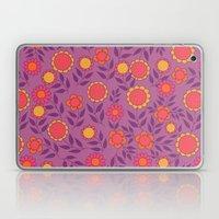 Retro Bloom Purple 1 Laptop & iPad Skin