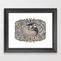 my little ferret  Framed Art Print