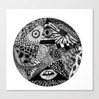 Canvas Print featuring B&W by Nix Hunt