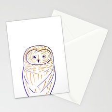 The Owl. Owl art, owls, owl print, owl illustration, nature, animals, children's  Stationery Cards