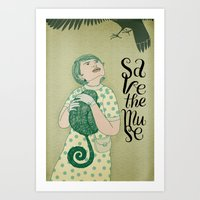 Save the muse Art Print