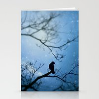 Silent Snow Stationery Cards