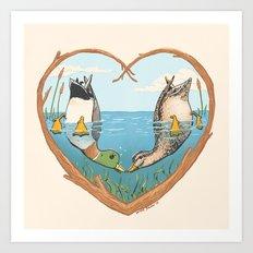 Duck Love Art Print