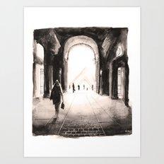 Paris - Passage du louvre Art Print