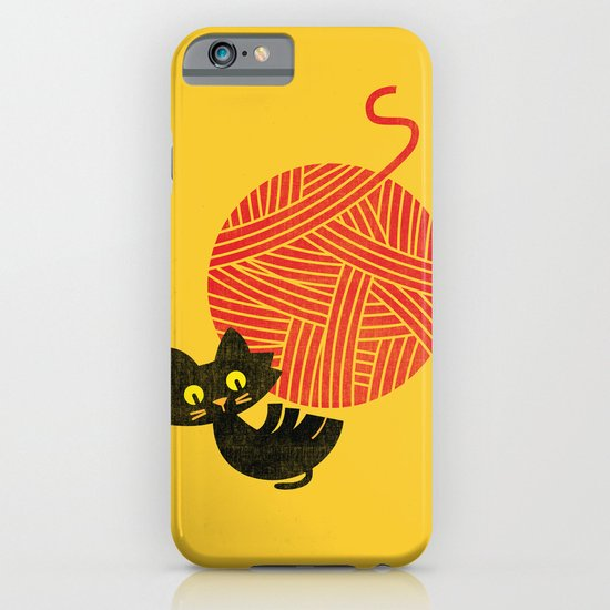 Fitz - Happiness (cat and yarn) iPhone & iPod Case