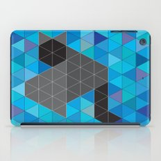 Black kitten in a sea of Triangles iPad Case