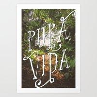 Pura Vida Jungle Art Print