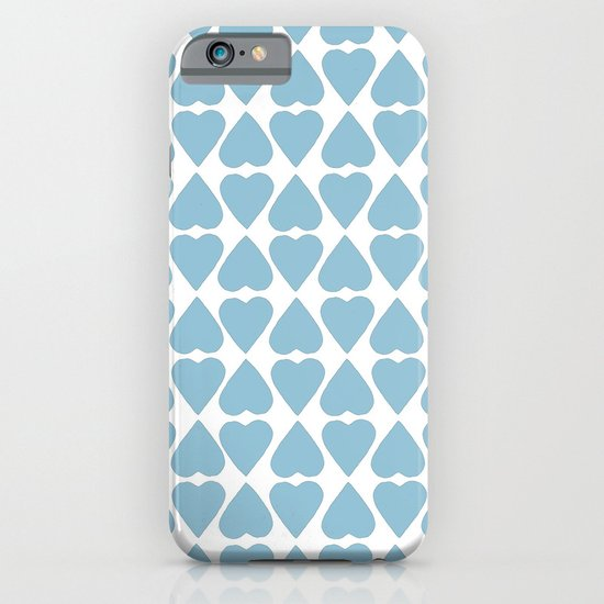 Diamond Hearts Repeat Blue iPhone & iPod Case